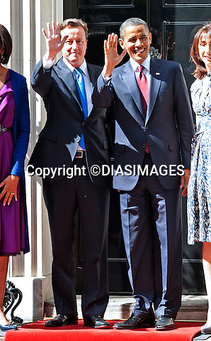 """PRESIDENT OBAMA STATE VISIT_No.10 Downing Street.President Barack Obama and First Lady Michelle Obama with David and Samantha Cameron at No.10 Downing Street, London_24/05/2011.Mandatory Photo Credit: ©Dias/DiasImages..**ALL FEES PAYABLE TO: """"NEWSPIX INTERNATIONAL""""**..PHOTO CREDIT MANDATORY!!: DIASIMAGES(Failure to credit will incur a surcharge of 100% of reproduction fees)..IMMEDIATE CONFIRMATION OF USAGE REQUIRED:.Newspix International, 31 Chinnery Hill, Bishop's Stortford, ENGLAND CM23 3PS.Tel:+441279 324672  ; Fax: +441279656877.Mobile:  0777568 1153.e-mail: info@newspixinternational.co.uk"""