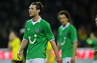 FUSSBALL   1. BUNDESLIGA   SAISON 2011/2012   23. SPIELTAG Borussia Dortmund - Hannover 96                        26.02.2012 Christian Schulz (Hannover 96) ist enttaeuscht