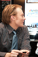 Clay Aiken at the NBC Experience Store promoting the Celebrity Apprentice Finale show in New York City May 18, 2012. © Kristen Driscoll / Mediapunch Inc.