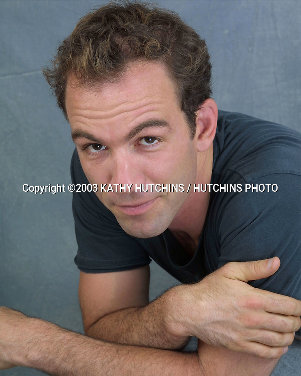 "©2003 KATHY HUTCHINS / HUTCHINS PHOTO.EXCLUSIVE STUDIO SESSION.WITH CAST OF ""FISH WITHOUT A BICYCLE"" .BURBANK, CA.JULY 26, 2003..BRYAN CALLEN"