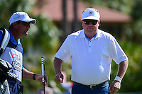 Boo Weekley (USA) after sinking his putt on 2 during round 3 of the Honda Classic, PGA National, Palm Beach Gardens, West Palm Beach, Florida, USA. 2/25/2017.<br /> Picture: Golffile | Ken Murray<br /> <br /> <br /> All photo usage must carry mandatory copyright credit (&copy; Golffile | Ken Murray)