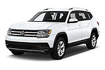 2019 Volkswagen Atlas S 5 Door SUV angular front stock photos of front three quarter view