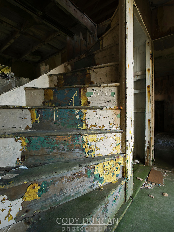 Starway of abandoned house, South Ronaldsay, Orkney, Scotland