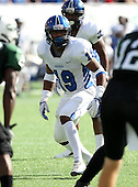 Armwood Hawks linebacker Eric Striker #19 lines up on a play during the first quarter of the Florida High School Athletic Association 6A Championship Game at Florida's Citrus Bowl on December 17, 2011 in Orlando, Florida.  The score at halftime is Armwood 16 - Miami Central 14.  (Photo By Mike Janes Photography)