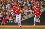 22 August 2015: Washington Nationals infielder Anthony Rendon gets the 3rd out of the fourth inning against the Milwaukee Brewers at Nationals Park in Washington, DC. The Nationals defeated the Brewers 6-1 in the second game of their 3-game weekend series. Mandatory Credit: Ed Wolfstein Photo *** RAW (NEF) Image File Available ***