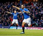 24.11.2018 Rangers v Livingston: Daniel Candeias celebrates his opening goal for Rangers