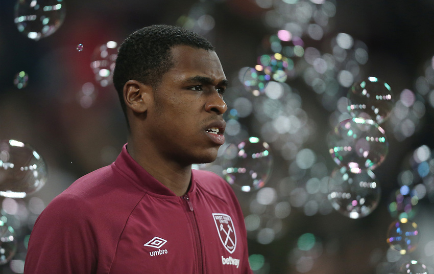 West Ham United's Issa Diop<br /> <br /> Photographer Rob Newell/CameraSport<br /> <br /> The Premier League - West Ham United v Brighton and Hove Albion - Wednesday 2nd January 2019 - London Stadium - London<br /> <br /> World Copyright © 2019 CameraSport. All rights reserved. 43 Linden Ave. Countesthorpe. Leicester. England. LE8 5PG - Tel: +44 (0) 116 277 4147 - admin@camerasport.com - www.camerasport.com