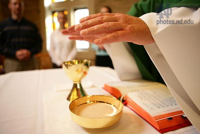 Mass in Malloy Hall chapel