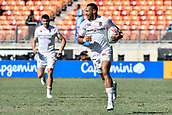 3rd February 2019, Spotless Stadium, Sydney, Australia; HSBC Sydney Rugby Sevens; England versus USA Mens semi final; Dan Norton of England makes an unchallenged try scoring run