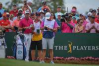 Charl Schwartzel (RSA) looks over his tee shot on 1 during round 4 of The Players Championship, TPC Sawgrass, at Ponte Vedra, Florida, USA. 5/13/2018.<br /> Picture: Golffile | Ken Murray<br /> <br /> <br /> All photo usage must carry mandatory copyright credit (&copy; Golffile | Ken Murray)