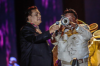 El cantante de música popular mexicana, Juan Gabriel , durante la noche de su concierto en expoForum como parte de su gira NOA NOA.<br /> ©Foto: Stringer/NORTEPHOTO.COM