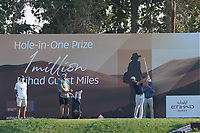 Tommy Fleetwood (ENG) on the 7th tee during the Pro-Am of the Abu Dhabi HSBC Championship 2020 at the Abu Dhabi Golf Club, Abu Dhabi, United Arab Emirates. 15/01/2020<br /> Picture: Golffile | Thos Caffrey<br /> <br /> <br /> All photo usage must carry mandatory copyright credit (© Golffile | Thos Caffrey)
