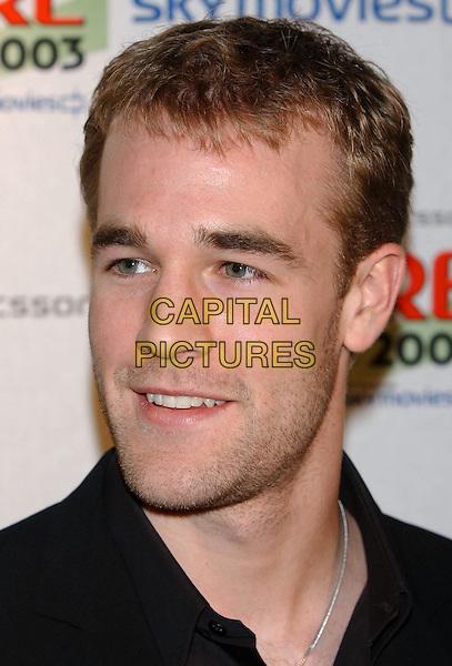 JAMES VAN DER BEEK.Empire Awards 2003.Dorchester Hotel.www.capitalpictures.com.sales@capitalpictures.com.© Capital Pictures.