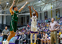 University at Albany men's basketball defeats Binghamton University 71-54  at the  SEFCU Arena, Feb. 27, 2018.  Ahmad Clark (#2). (Bruce Dudek / Cal Sport Media/Eclipse Sportswire)