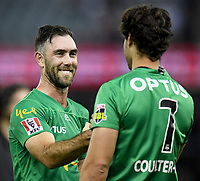 10th January 2020; Marvel Stadium, Melbourne, Victoria, Australia; Big Bash League Cricket, Melbourne Renegades versus Melbourne Stars; Glenn Maxwell of the Stars smiles after smashing 83 runs - Editorial Use
