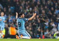 Nolito of Manchester City shows his frustration during the UEFA Champions League GROUP match between Manchester City and Celtic at the Etihad Stadium, Manchester, England on 6 December 2016. Photo by Andy Rowland.