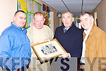 Enjoying a trip down memory lane at the Killarney Monastry National School 50th anniversary celebrations in the school on Friday was Pat O'Connor, James Looney Weesie Fogarty and Tom Looney    Copyright Kerry's Eye 2008