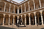 The courtyard at the University in Turin, Italy known as the Universita degli studi di Torino