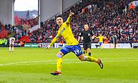 Leeds United's Pablo Hernandez celebrates scoring the opening goal <br /> <br /> Photographer Alex Dodd/CameraSport<br /> <br /> The EFL Sky Bet Championship - Sheffield United v Leeds United - Saturday 1st December 2018 - Bramall Lane - Sheffield<br /> <br /> World Copyright &copy; 2018 CameraSport. All rights reserved. 43 Linden Ave. Countesthorpe. Leicester. England. LE8 5PG - Tel: +44 (0) 116 277 4147 - admin@camerasport.com - www.camerasport.com