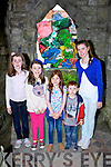 Emily Culhane Glin, Kim Kelly Ballina, Maria and Michael Culhane Beaufort and Aisling Culhane Glin admiring the art at the Kfest in Killoglin on Sunday