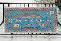 Sign for Gabriel's Wharf, located on the South Bank, London, England