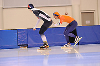 SPEEDSKATING: SALT LAKE CITY: 06-12-2017, Utah Olympic Oval, ISU World Cup, training, 1500m, Natálie Kerschbaummayr (CZE), Janneke Ensing (NED), photo Martin de Jong