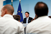 Giuseppe Conte<br /> Rome July 11th 2019. The Italian Premier presents to the press the newly appointed Ministers<br /> Foto Samantha Zucchi Insidefoto