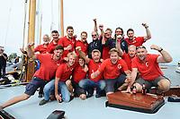 ZEILSPORT: SNEEK: 18-08-2017, SKS, Skûtsjesilen, SKS kampioen 2017, Grou, Douwe Azn. Visser, ©foto Martin de Jong