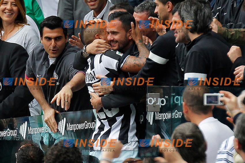 Esultanza dopo il gol di Arturo Vidal Juventus, Goal Celebration, Torino 5/5/2013 .Juventus Stadium.Football Calcio 2012/2013 Serie A.Juventus Vs Palermo.Foto Marco Bertorello Insidefoto