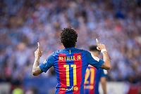FC Barcelona's forward Neymar Santos Jr celebrating a goal during Copa del Rey (King's Cup) Final between Deportivo Alaves and FC Barcelona at Vicente Calderon Stadium in Madrid, May 27, 2017. Spain.<br /> (ALTERPHOTOS/BorjaB.Hojas) /NortePhoto.com