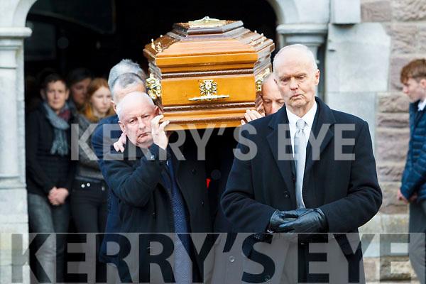 The funeral of Aodhán Ó'Conchúir in Dingle on Wednesday.