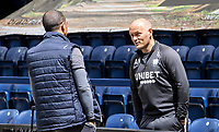 Preston North End's manager Alex Neil (right) chatting with Nottingham Forest's manager Sabri Lamouchi before the match<br /> <br /> Photographer Andrew Kearns/CameraSport<br /> <br /> The EFL Sky Bet Championship - Preston North End v Nottingham Forest - Saturday 11th July 2020 - Deepdale Stadium - Preston <br /> <br /> World Copyright © 2020 CameraSport. All rights reserved. 43 Linden Ave. Countesthorpe. Leicester. England. LE8 5PG - Tel: +44 (0) 116 277 4147 - admin@camerasport.com - www.camerasport.com