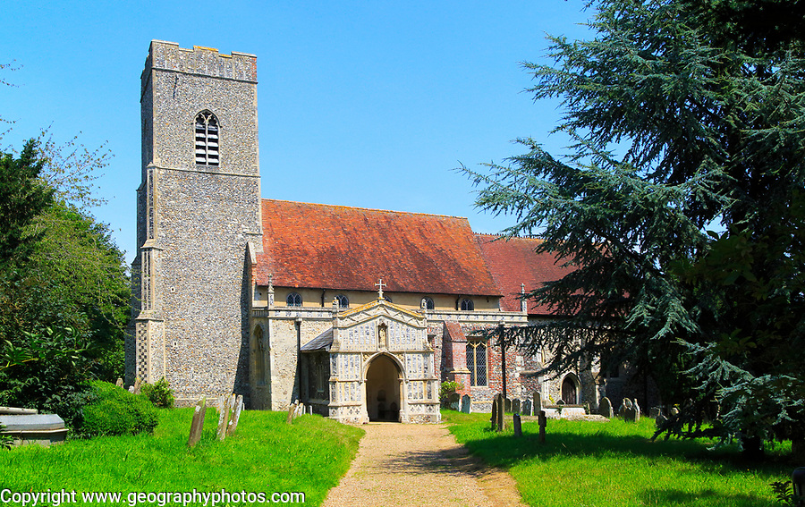 Parish church of Saint Mary, Huntingfield,, Suffolk, England, UK