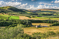 A view of Reed Barn and the Hodder Valley, Forest of Bowland, Lancashire.