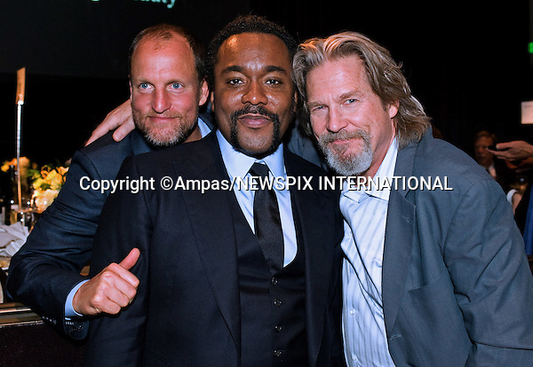 82nd OSCARS NOMINEES LUNCHEON.Woody Harrelson (left), Lee Daniels (center) and Jeff Bridges (right) .at the Oscar Nominees Luncheon at the Beverly Hilton,Beverly Hills_ February 15, 2010. .Academy Awards for outstanding film achievements of 2009 will be presented on Sunday, March 7, 2010 at the Kodak  Theatre, Hollywood, Los Angeles.PHOTO CREDIT: Petit/NEWSPIX INTERNATIONAL  .(Failure to by-line the photograph will result in an additional 100% reproduction fee surcharge. You must agree not to alter the images or change their original content)..            *** ALL FEES PAYABLE TO: NEWSPIX INTERNATIONAL ***..IMMEDIATE CONFIRMATION OF USAGE REQUIRED:Tel:+441279 324672..Newspix International, 31 Chinnery Hill, Bishop's Stortford, ENGLAND CM23 3PS.Tel: +441279 324672.Fax: +441279 656877.Mobile: +447775681153.e-mail: info@newspixinternational.co.uk