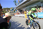 Aritz Bagues Kalparsoro (ESP) Euskadi-Murias during Stage 1 of the La Vuelta 2018, an individual time trial of 8km running around Malaga city centre, Spain. 25th August 2018.<br /> Picture: Ann Clarke | Cyclefile<br /> <br /> <br /> All photos usage must carry mandatory copyright credit (© Cyclefile | Ann Clarke)