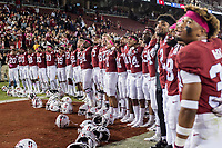 STANFORD, CA -- October 5, 2019. The Stanford Cardinal football team defeats the University of Washington Huskies 23-13 at Stanford Stadium.