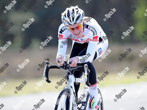 2011-04-12 / Wielrennen / seizoen 2011 / PK Tijdrijden / Lander Croonen..Foto: Mpics