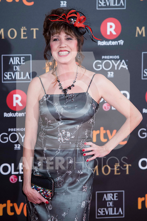 Pilar Ordonez attends red carpet of Goya Cinema Awards 2018 at Madrid Marriott Auditorium in Madrid , Spain. February 03, 2018. (ALTERPHOTOS/Borja B.Hojas)