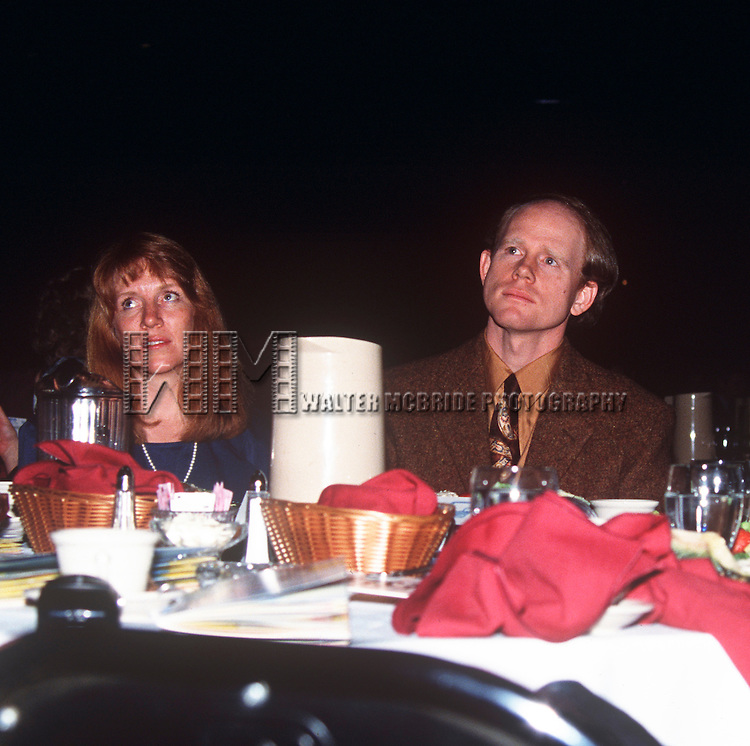 Ron Howard & wife at the Iris Awards at NATPE in New Orleans, Louisiana in January of 1992.