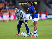 HOUSTON, TX - FEBRUARY 03: Milan Ivanovic of the United States watches his team during a game between Costa Rica and USWNT at BBVA Stadium on February 03, 2020 in Houston, Texas.