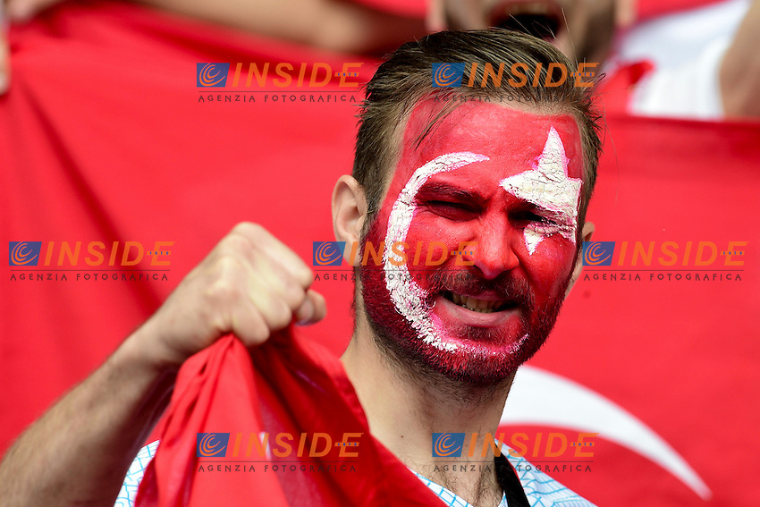 Tifosi Turchia Supporters <br /> Paris 12-06-2016 Parc des Princes Football Euro2016 Turkey - Croatia / Turchia - Croazia Group Stage Group D. Foto Panoramic / Insidefoto