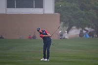 Trey Mullinax (USA) hits his approach shot on 18 during day 3 of the Valero Texas Open, at the TPC San Antonio Oaks Course, San Antonio, Texas, USA. 4/6/2019.<br /> Picture: Golffile | Ken Murray<br /> <br /> <br /> All photo usage must carry mandatory copyright credit (© Golffile | Ken Murray)