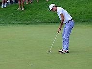 Bethesda, MD - June 24, 2016: Smylie Kaufman putts on the 2nd hole during Round 2 of professional play at the Quicken Loans National Tournament at the Congressional Country Club in Bethesda, MD, June 24, 2016.  (Photo by Don Baxter/Media Images International)