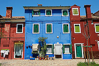 Colorful Houses of Burano Island Venice, Italy
