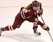 Kali Flanagan (BC - 10) - The Boston College Eagles defeated the Boston University Terriers 3-2 in the first round of the Beanpot on Monday, January 31, 2017, at Matthews Arena in Boston, Massachusetts.