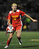 Claire Carney #12 of Sacred Heart Academy chases after a loose ball during Nassau-Suffolk CHSAA varsity girls soccer final against St. Anthony's at Adelphi University on Wednesday, Nov. 1, 2017.