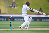 4th December 2017, Basin Reserve, Wellington, New Zealand; International Test Cricket, Day 4, New Zealand versus West Indies;  Roston Chase is bowled by Matt Henry