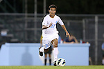 02 October 2012: UNC's Nico Melo. The University of North Carolina Tar Heels defeated the Georgia Southern Eagles 2-0 at Fetzer Field in Chapel Hill, North Carolina in a 2012 NCAA Division I Men's Soccer game.