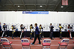 COLUMBUS, OH - MARCH 11:  An official walks through as student-athletes compete during the Division I Rifle Championships held at The French Field House on the Ohio State University campus on March 11, 2017 in Columbus, Ohio. (Photo by Jay LaPrete/NCAA Photos via Getty Images)